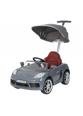 Carro Montable Push Car Porsche Deluxe Gris