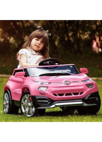 Carro Eléctrico Para Niñas Fiat Suv Rosa