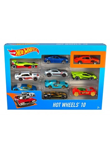 Hot Wheels set de 10 carros